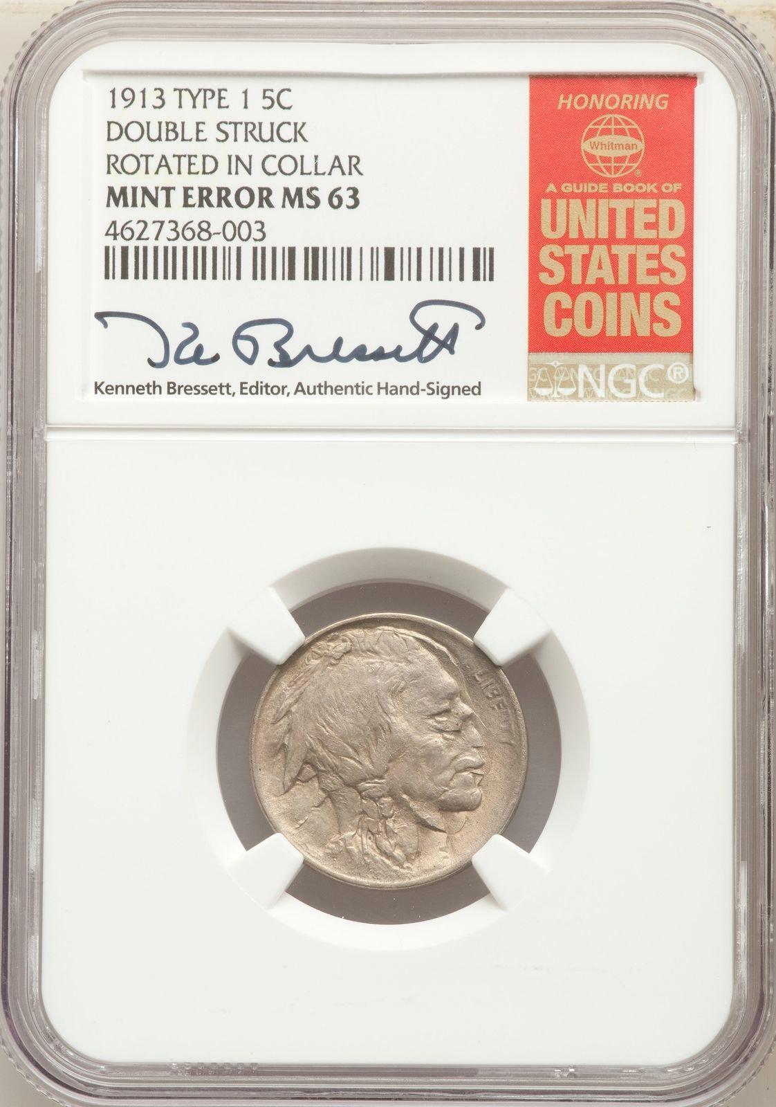 VERY Interesting 1913 type one buffalo nickel for sale on