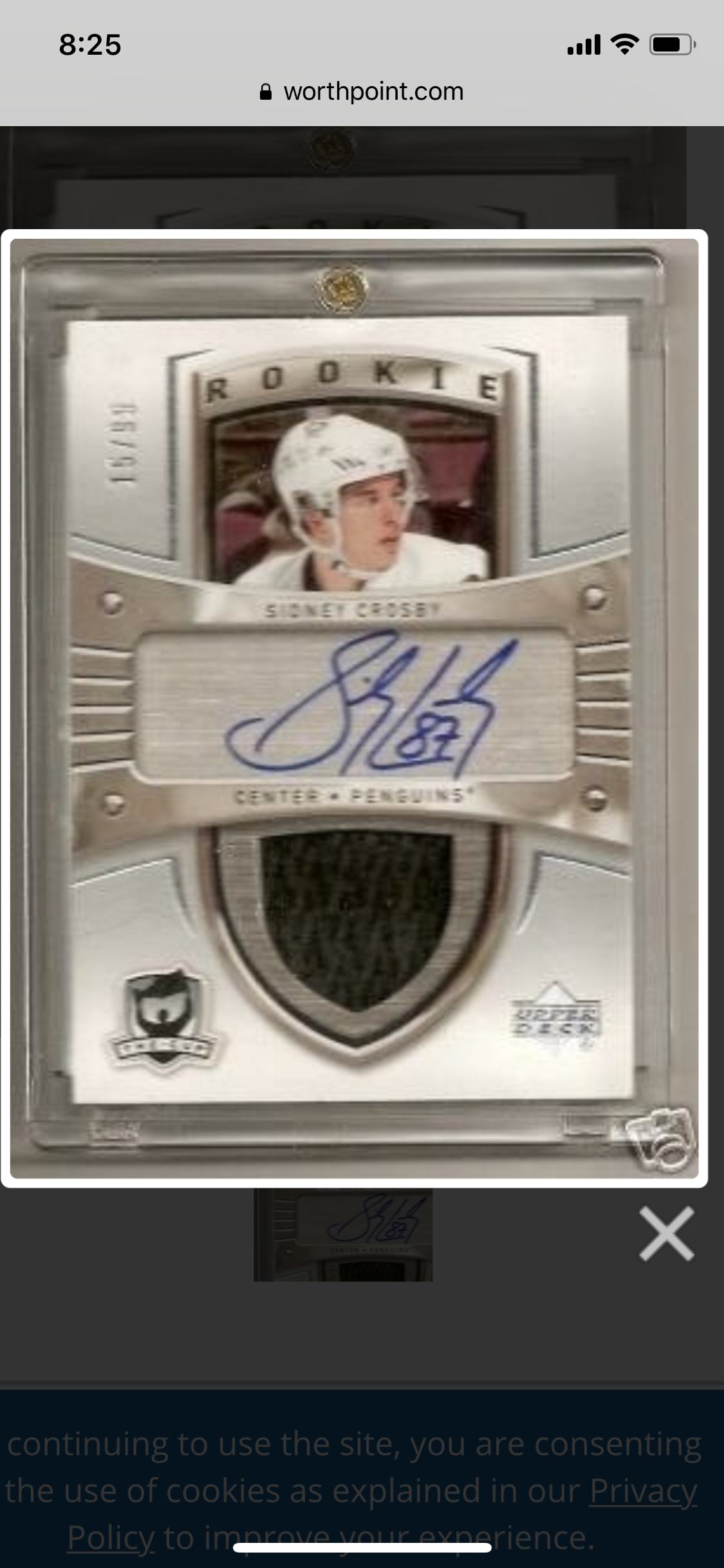 Repatched Sidney Crosby Cup Rpa On Ebay Update Possible Brady Too