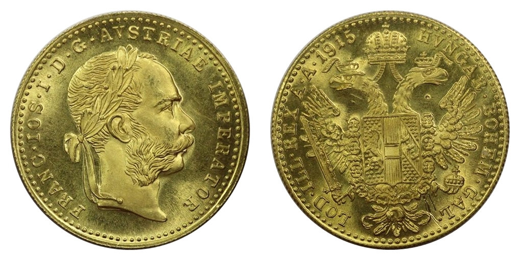 1915 Austria Gold Ducat Proof Like 99 Cents NO RESERVE GoToCoinAuctions