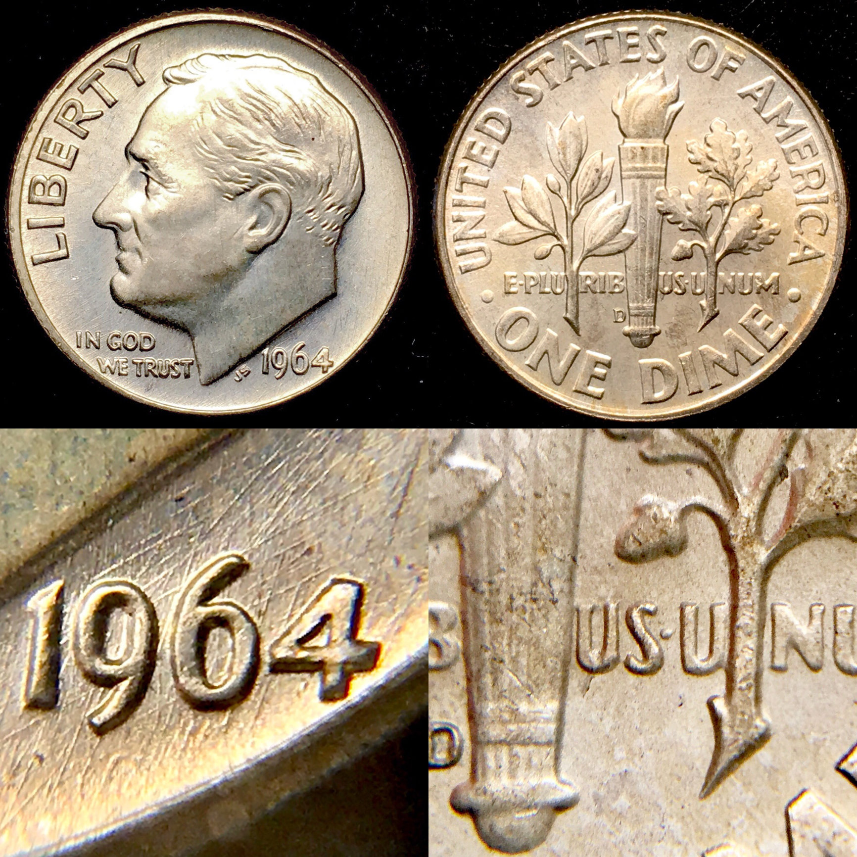 Does anyone have any 1964-D Dimes with this unique rim