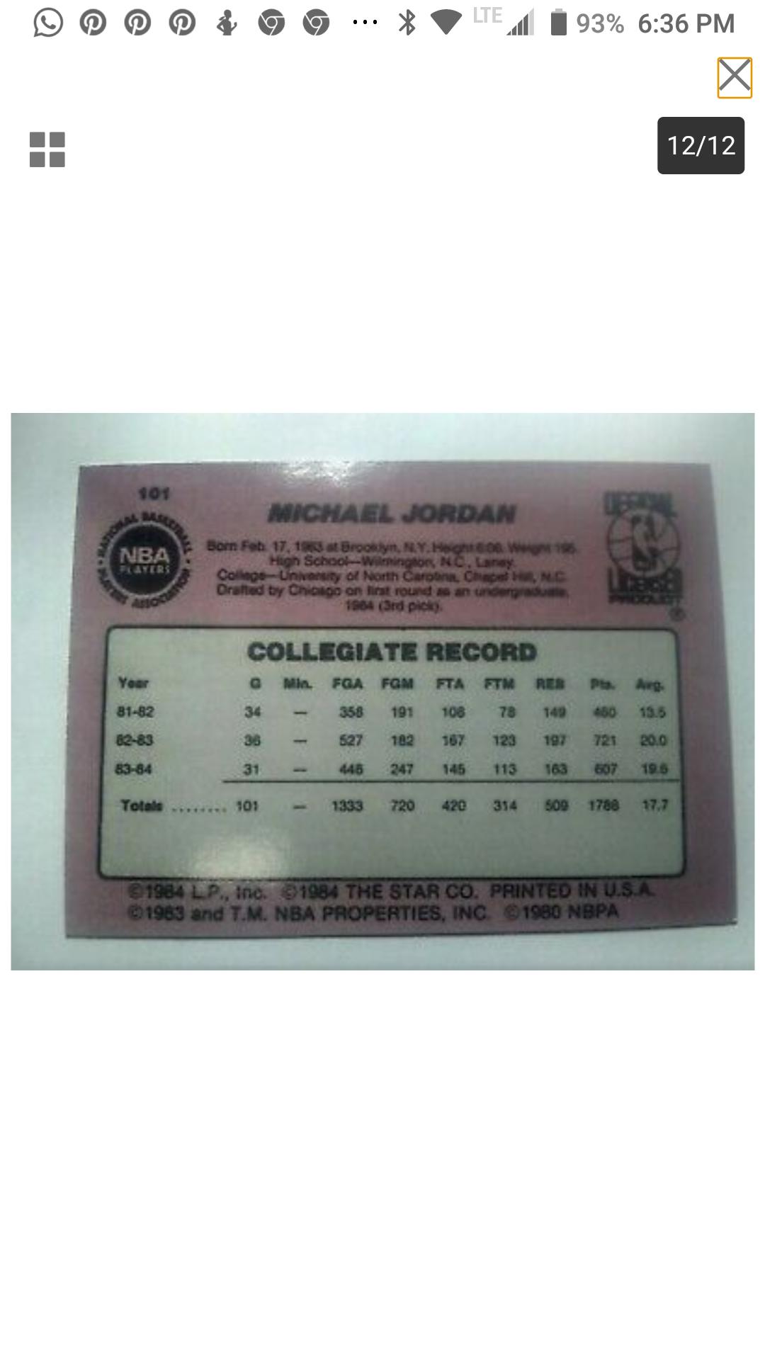 Michael Jordan Rookie Star 1985 101 Real Or Fake