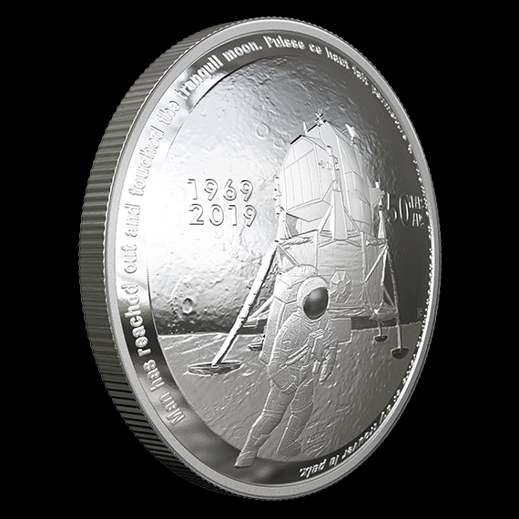 2019 Apollo 11 50th Anniversary Proof Silver Dollar Not Searched//sorted 19CC