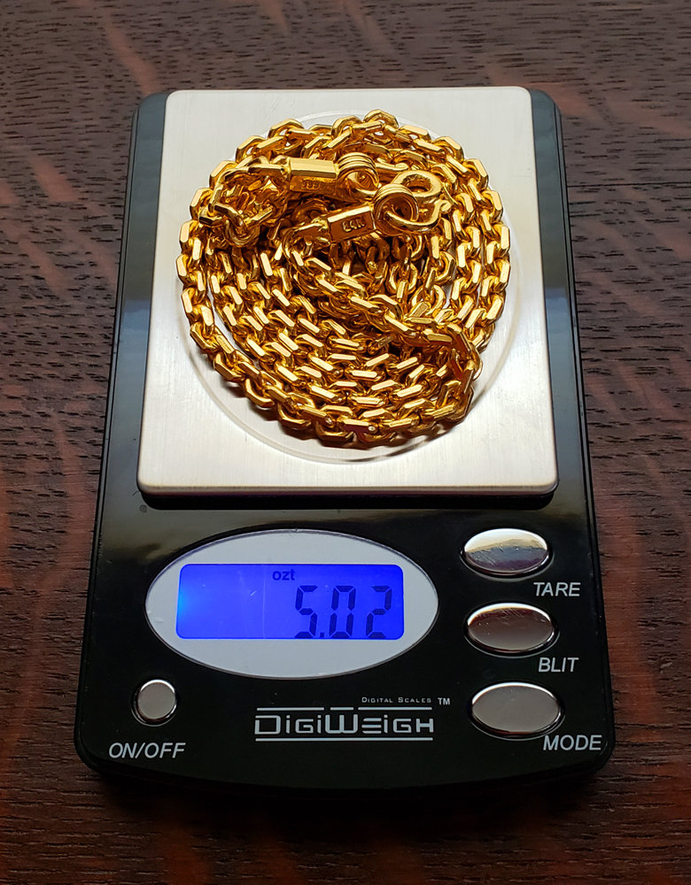 EXTRA LARGE  For 5 Baht LOCK 22K SOLID GOLD CLASP FOR 22K 23K 24K NECKLACE