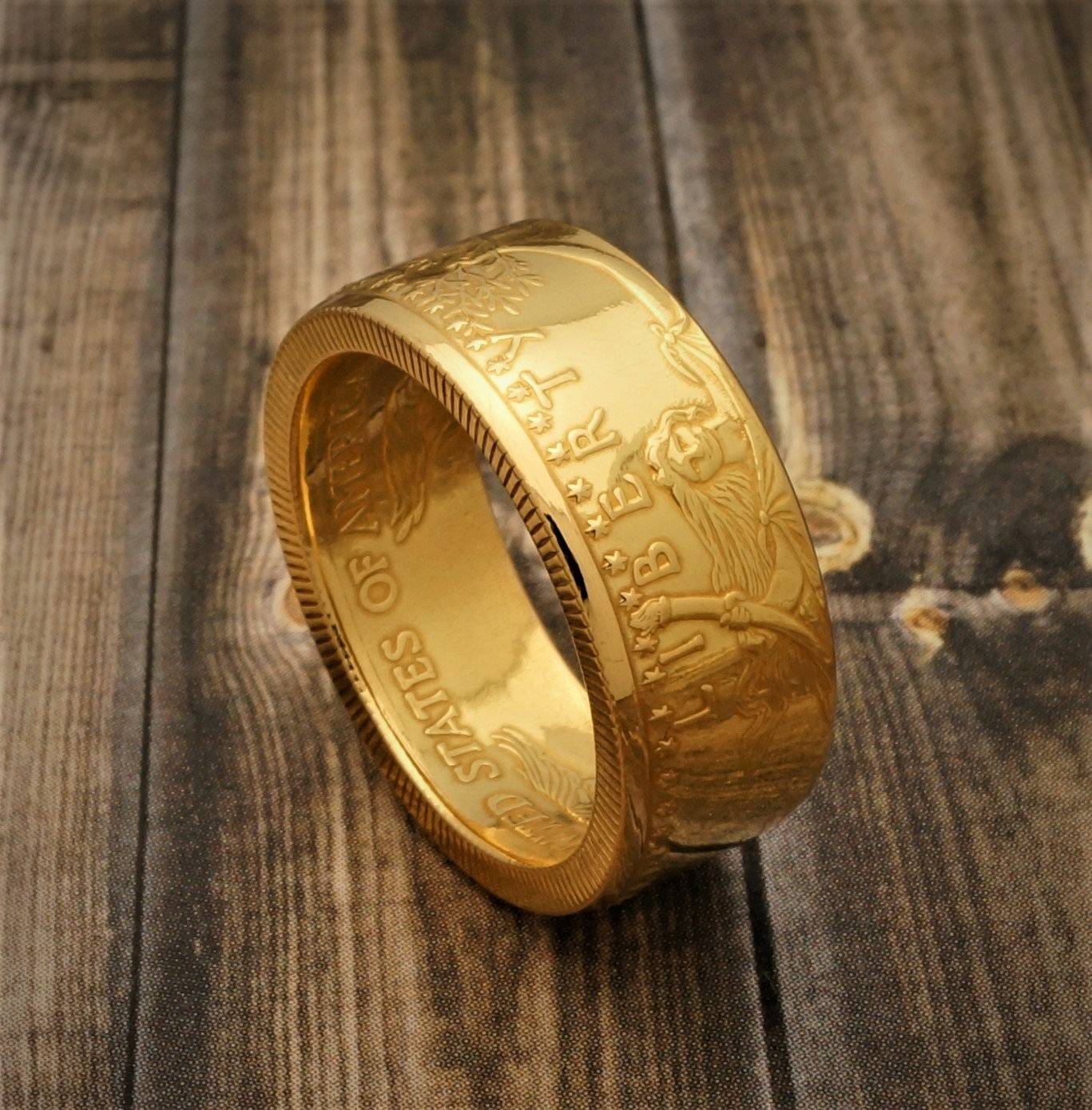 Fs Handcrafted Gold American Eagle Coin Rings Collectors Universe