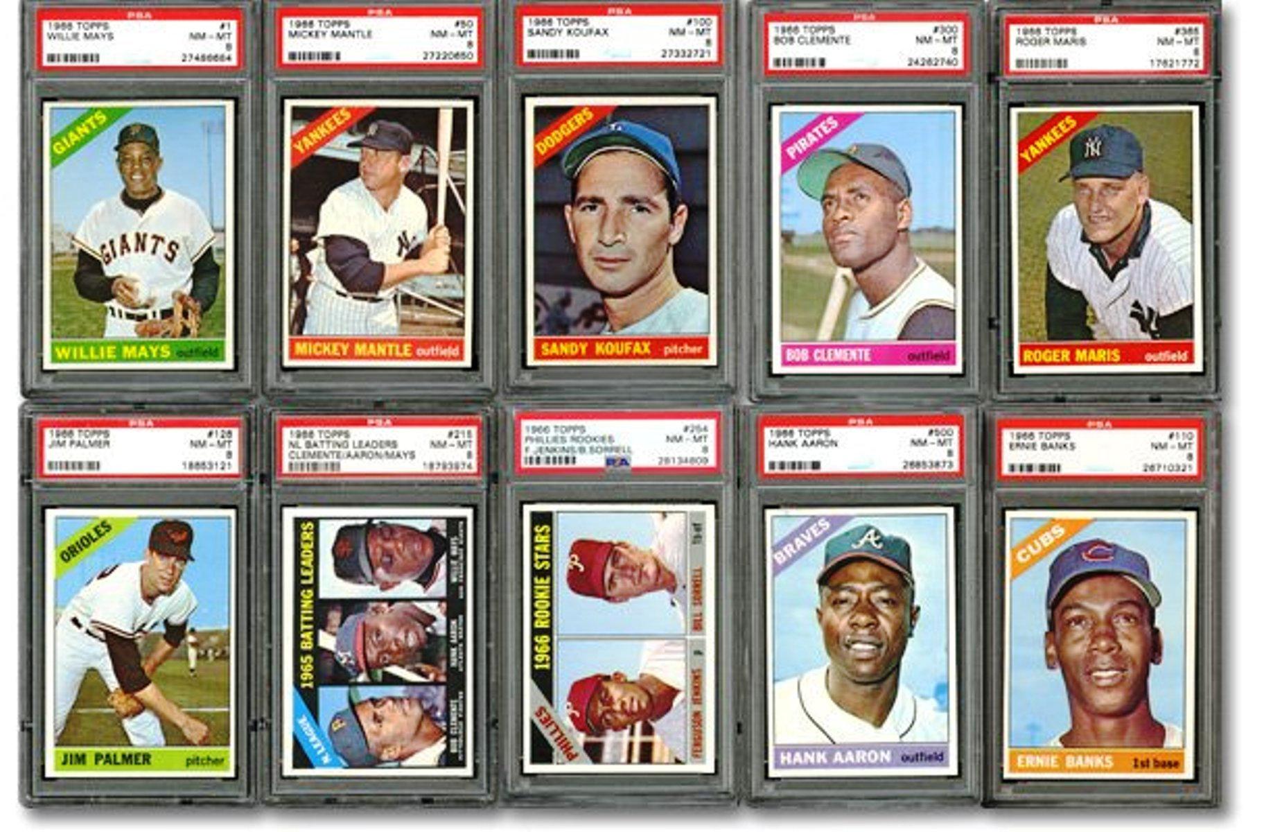 Fs1966 Topps Complete Master 612 Psa Graded Cards 1967