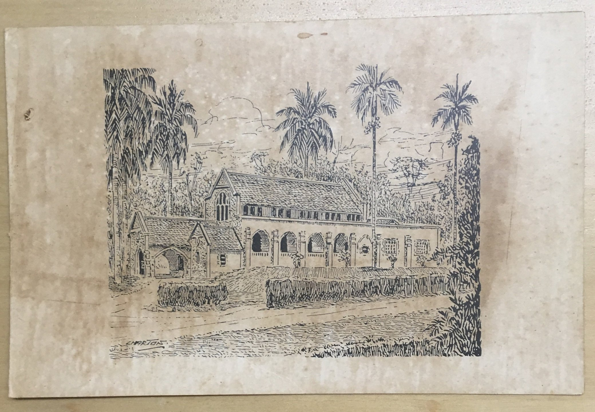 Malaysia First Church Vintage Christmas Greeting Cards For Auction