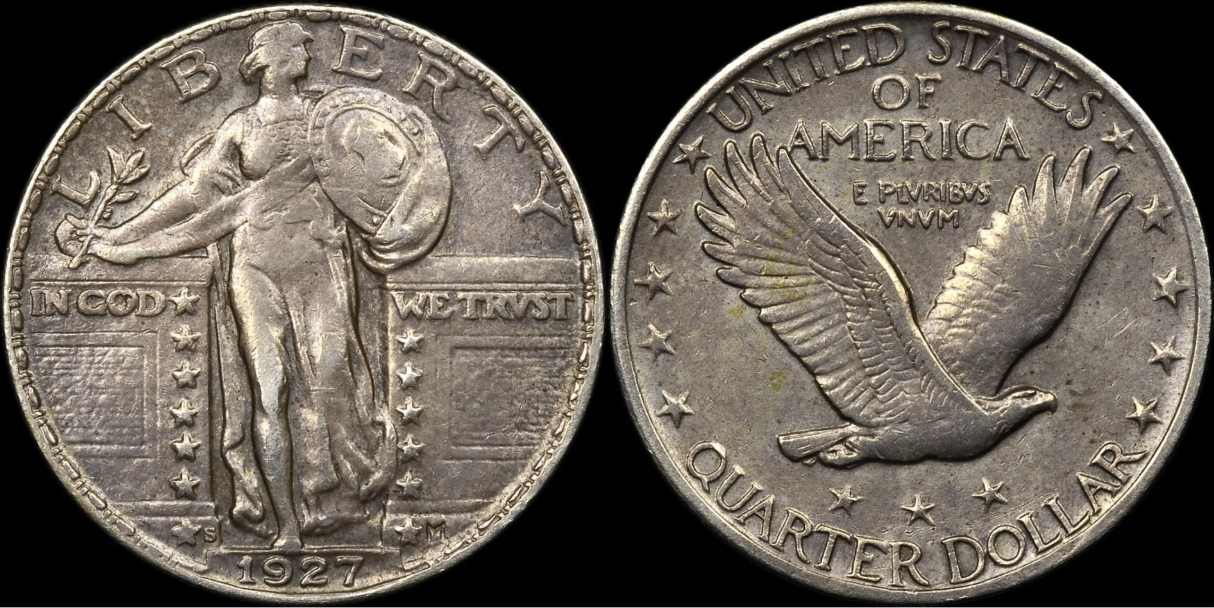 1927-S counterfeit Standing Liberty Quarters — Collectors