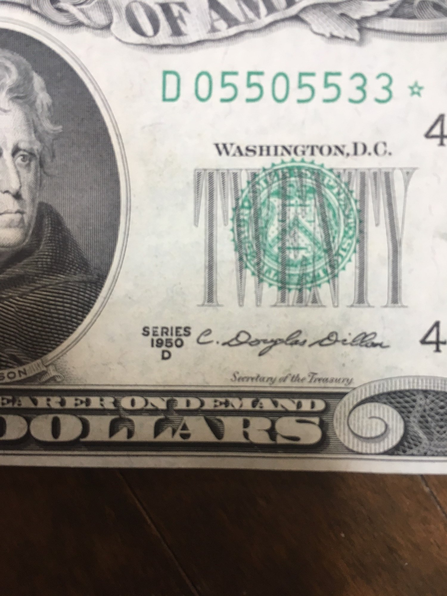 1950 20 dollar bill serial number   $20 U S  Currency Guide