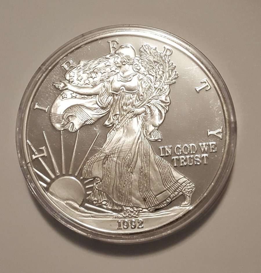 1992 One Troy Pound 999 Silver Eagle