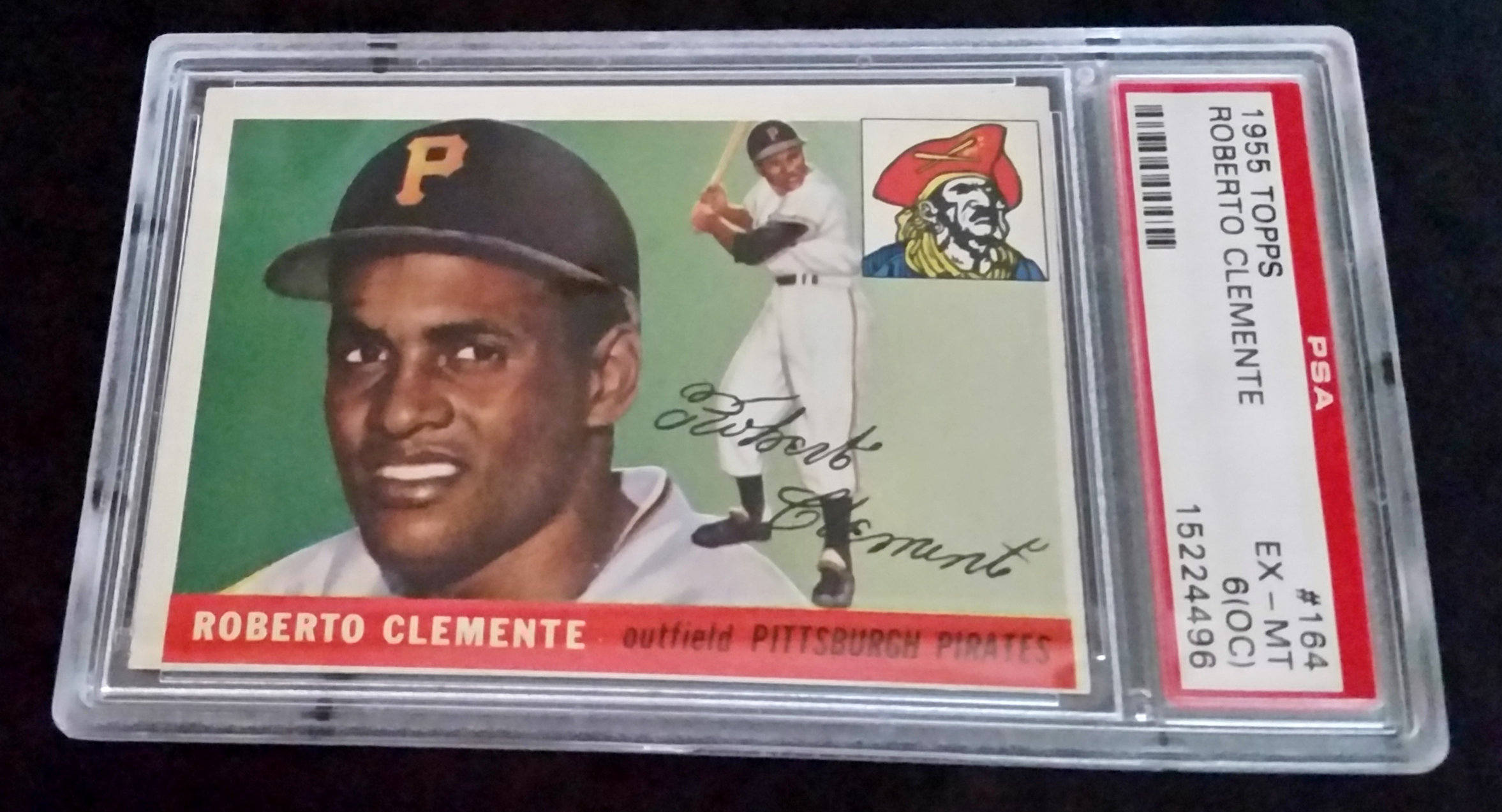 Fs 1955 Topps Roberto Clemente Rookie Card Psa 6 Oc