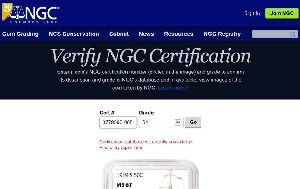 Ngc Certification Verification Answered Collectors Universe