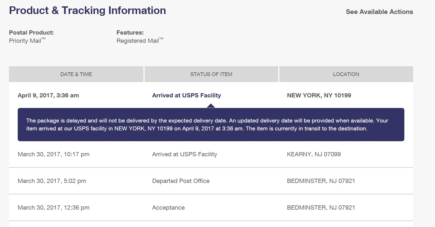 Danger, Danger, Los Angeles is a black hole at usps locations