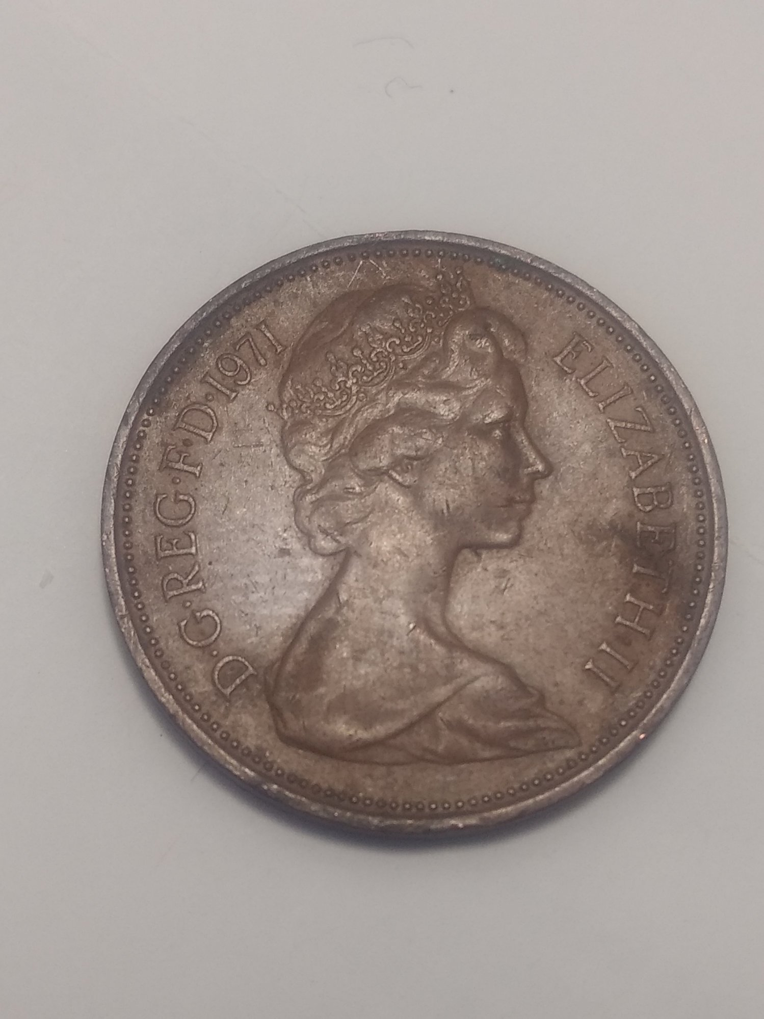 extremely rare 1971 2p New Pence — Collectors Universe