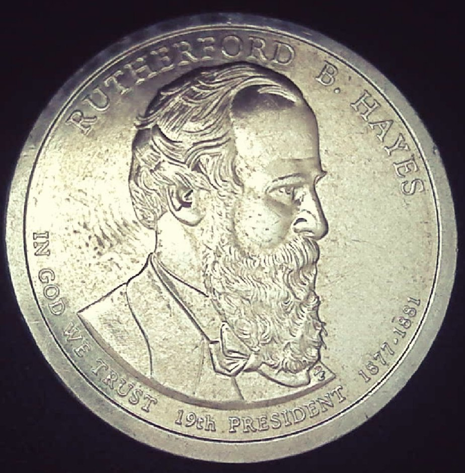 2011 Rutherford B Hayes Presidential Dollar Coin Error