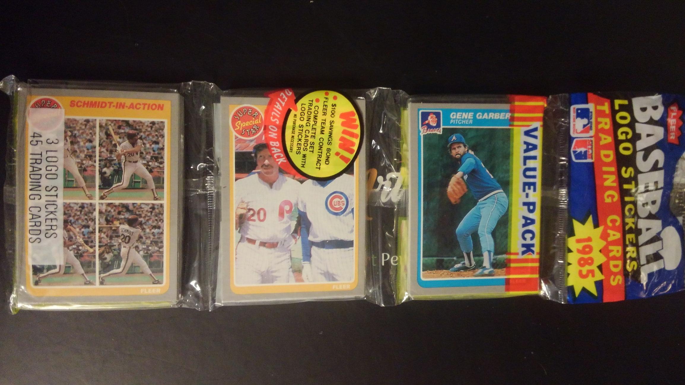 1985 Fleer Baseball Rack Pack Dual Mike Schmidt Cards Showing