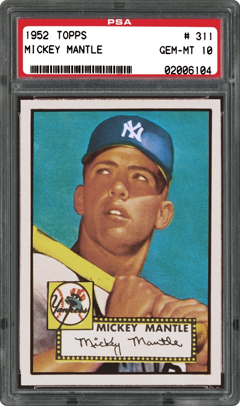 Us Marshal Auction >> How much would a 1952 Mickey Mantle PSA 10 fetch today ? — Collectors Universe