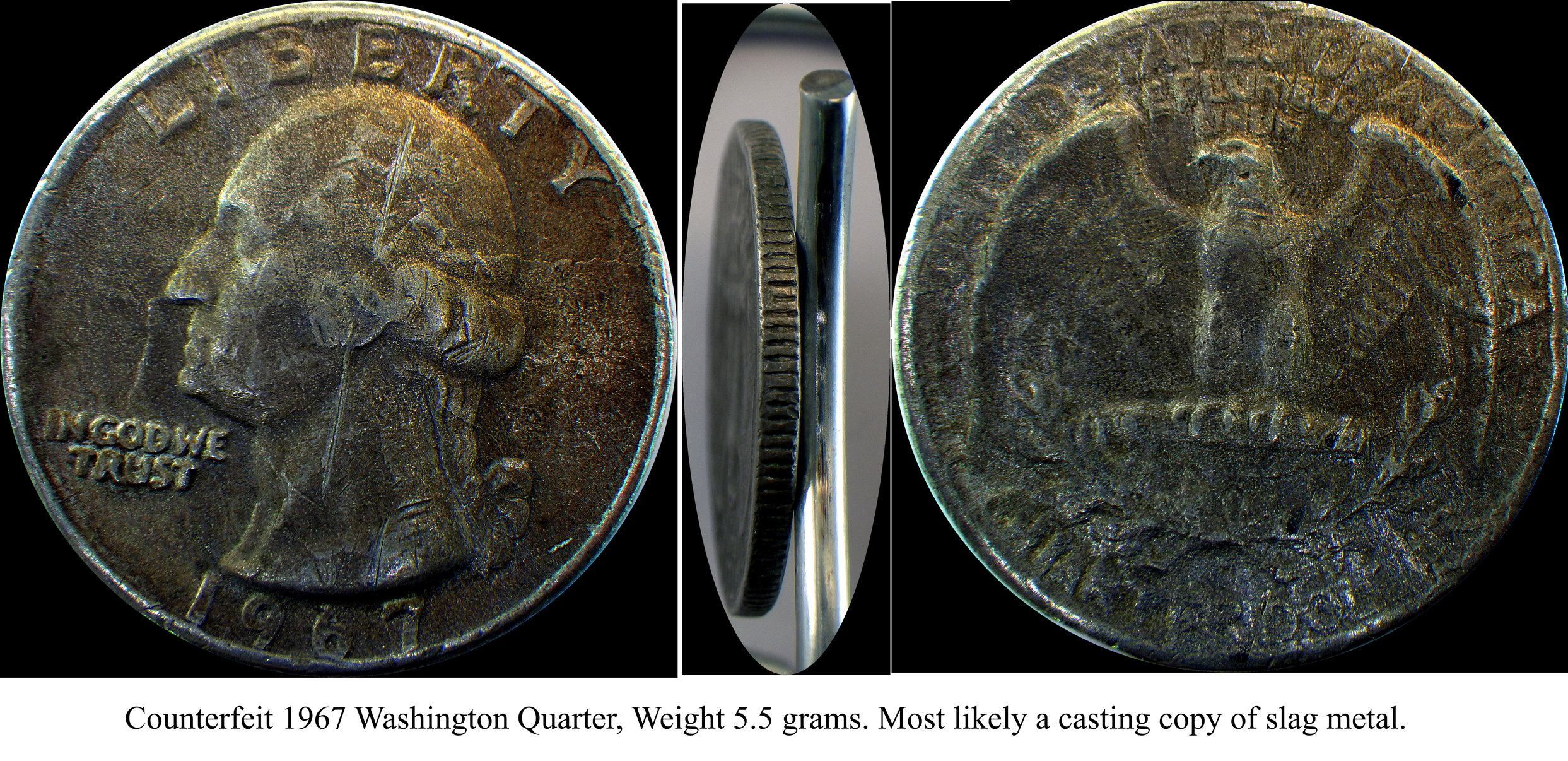 Counterfeit Quarters Found in Circulation in New York City