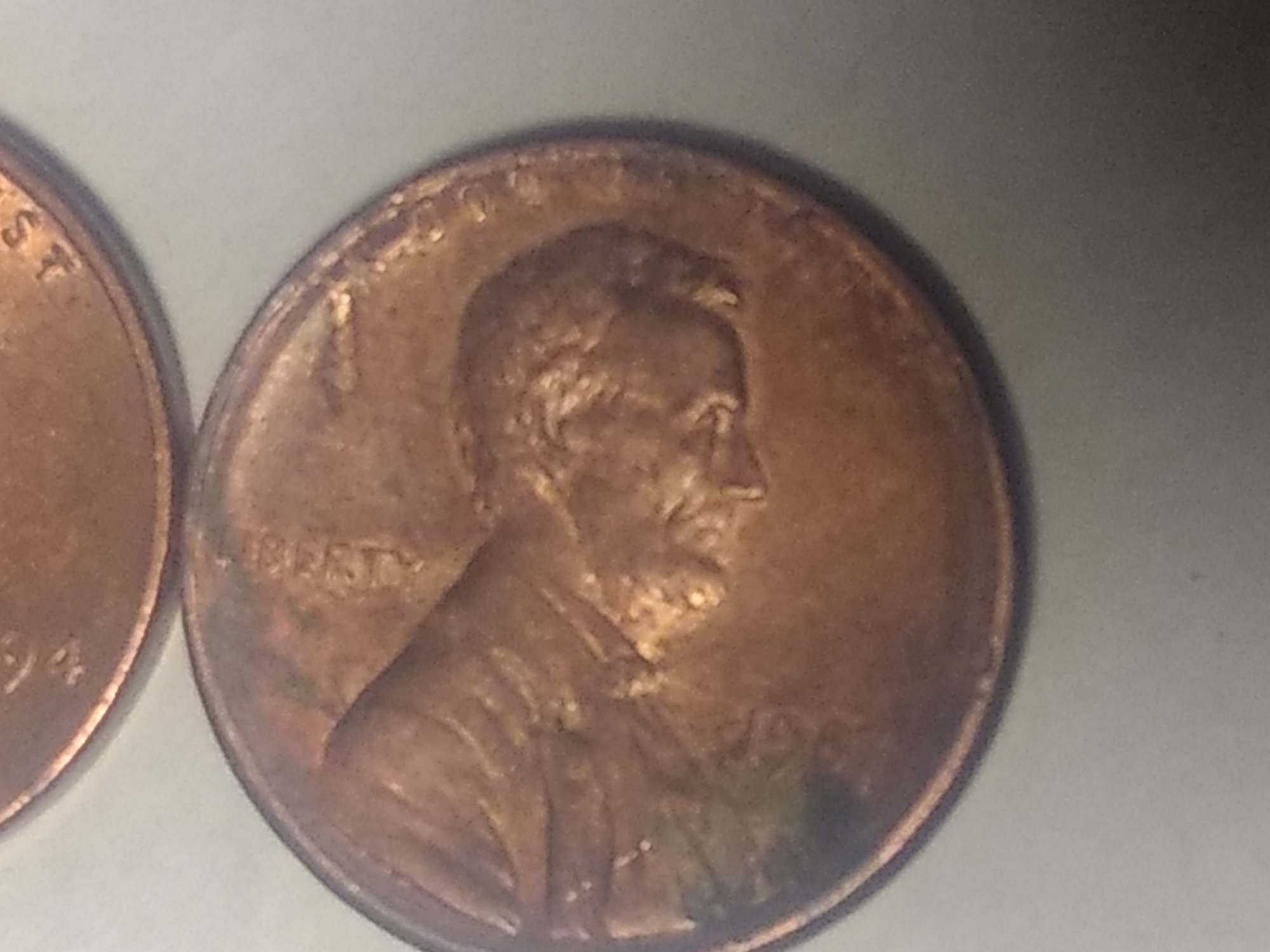 1987 penny look cocave from the observe also thinner at 180