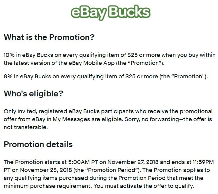 Heads up~ 15% off coupon on ebay with app, starts tomorrow ( 8AM ET