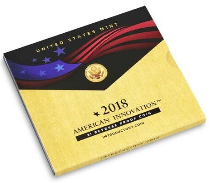 ○ ○ ○ American Innovation 2018 $1 Reverse Proof