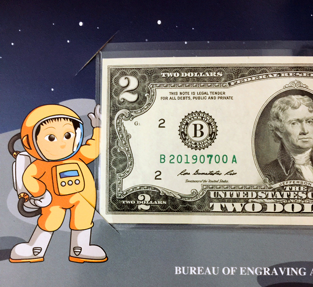 Sold Out 2019  $2 FR Note ROCKETSHIP-U.S From BEP