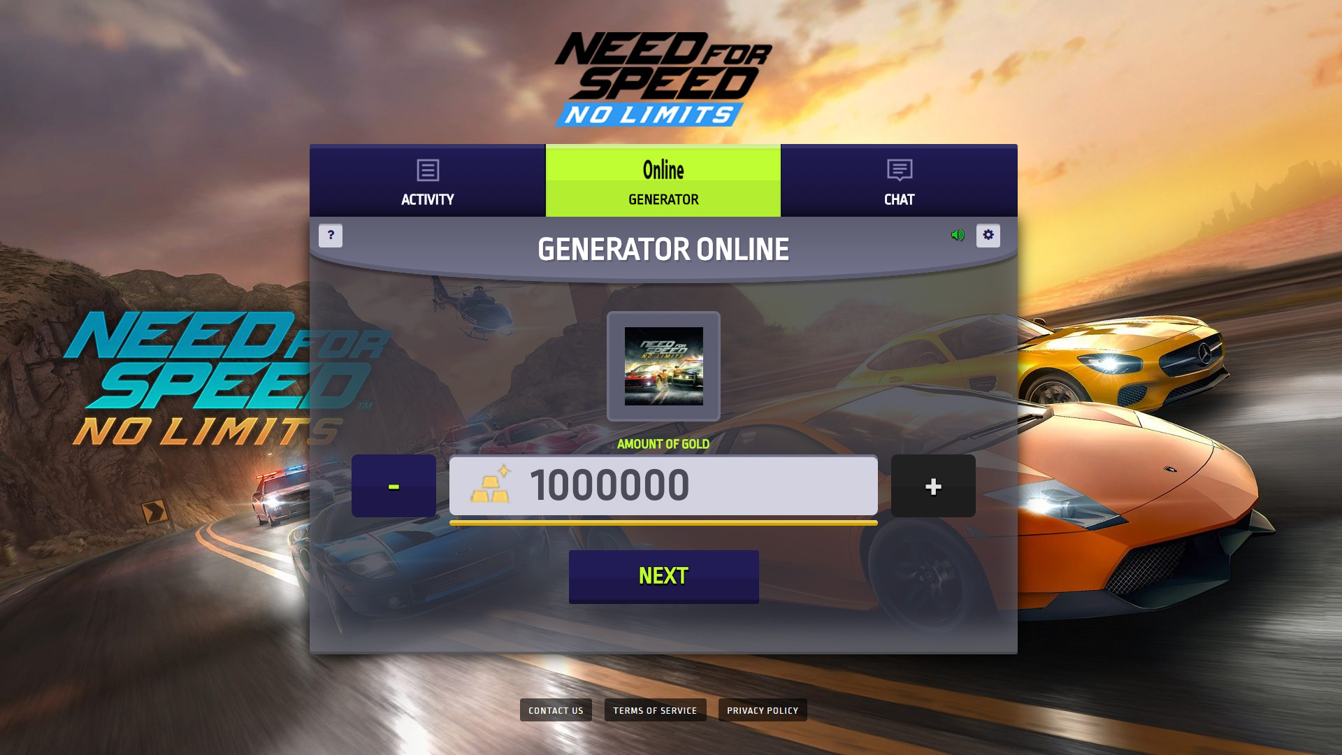 Need For Speed No Limits Gold and Cash Generator No Human