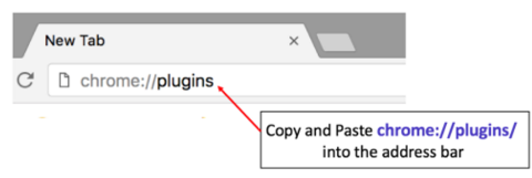 chrome plugins in the address bar