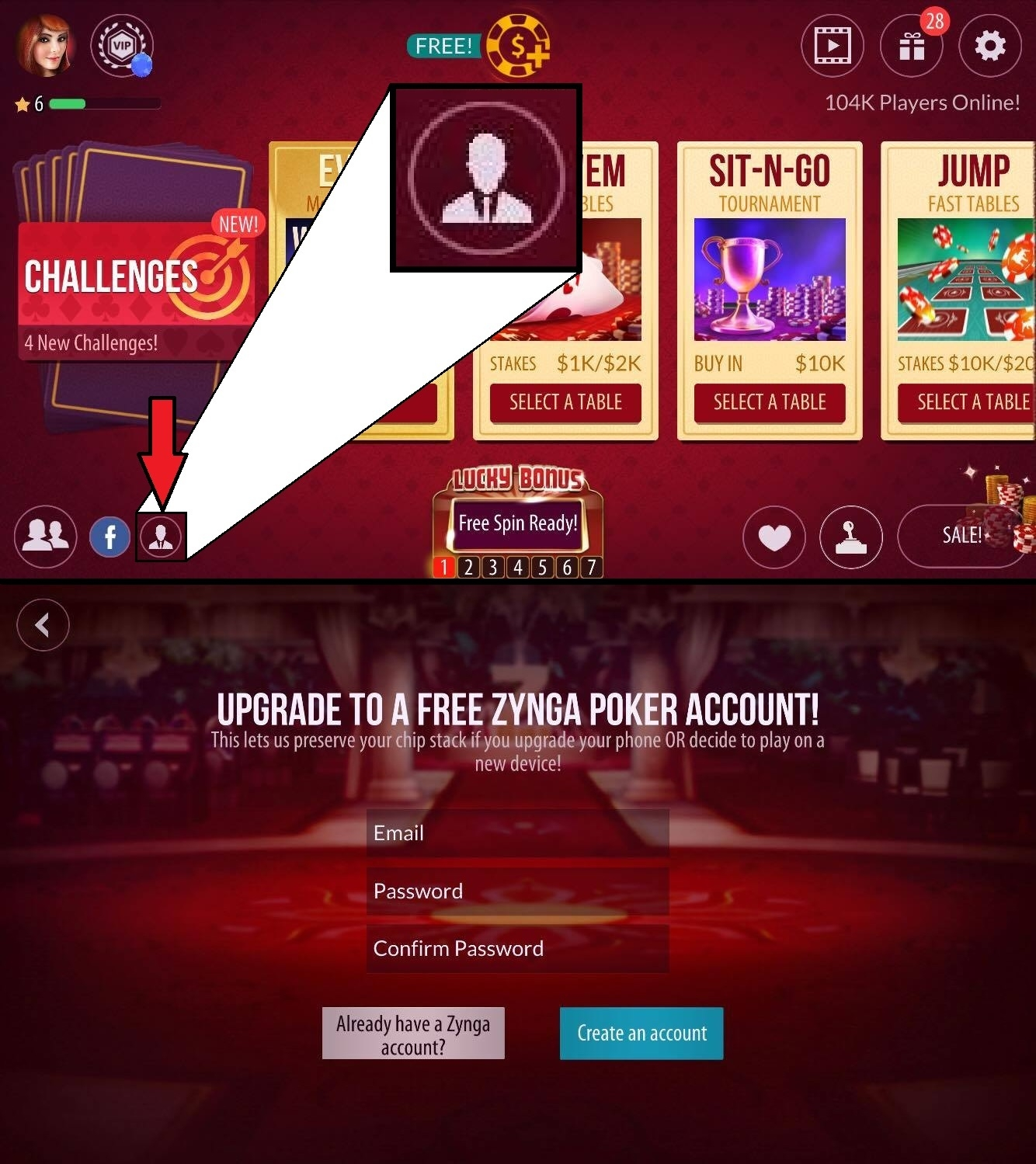 Zynga poker account sign up poker clothing