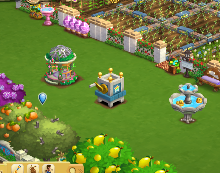 The gift for today is shaded in the storage — FarmVille 2
