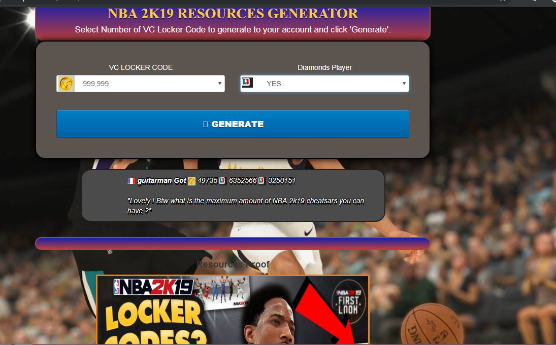 Generator NBA 2K Mobile Basketball unlimited coins hack