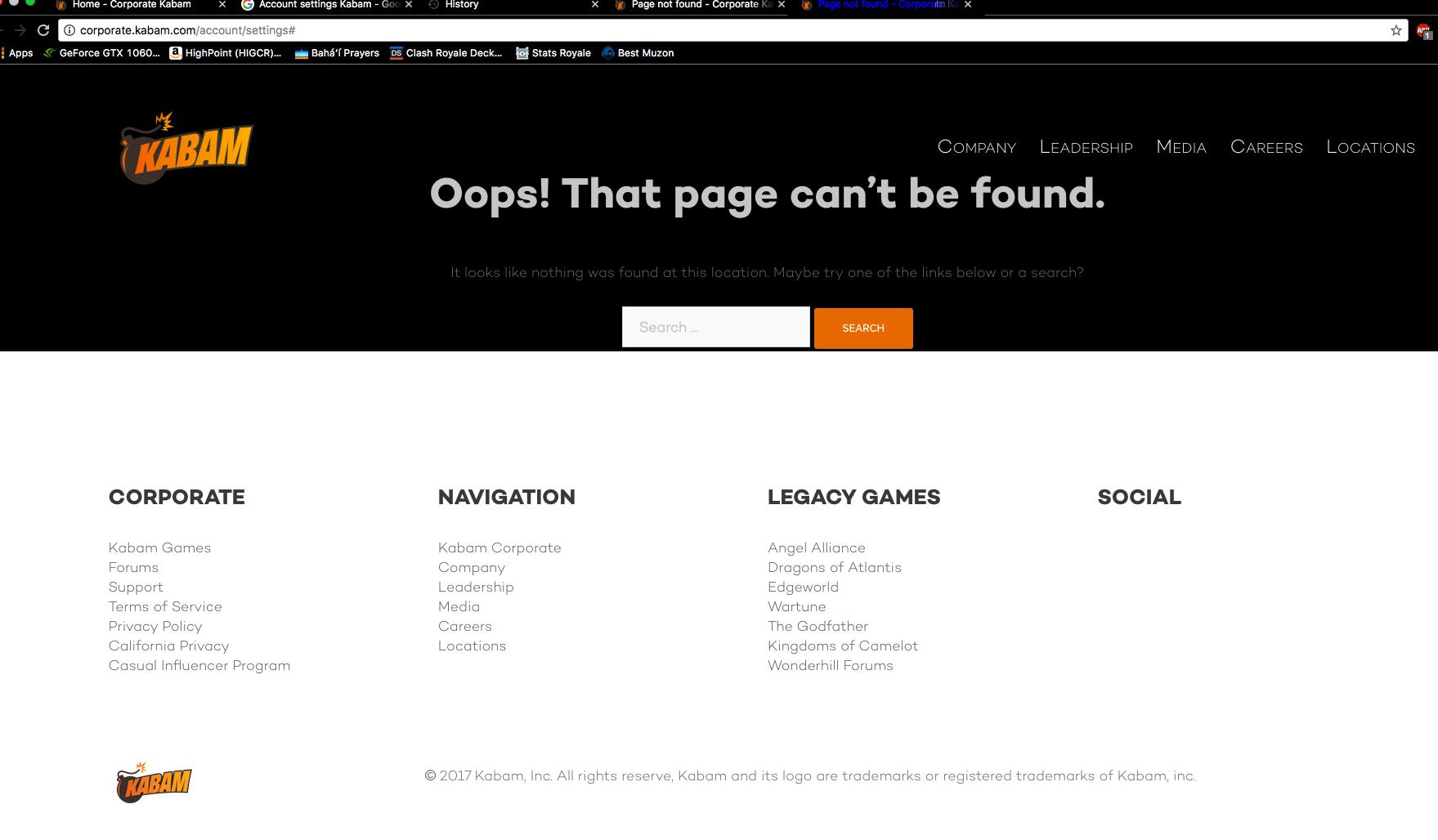 Kabam website