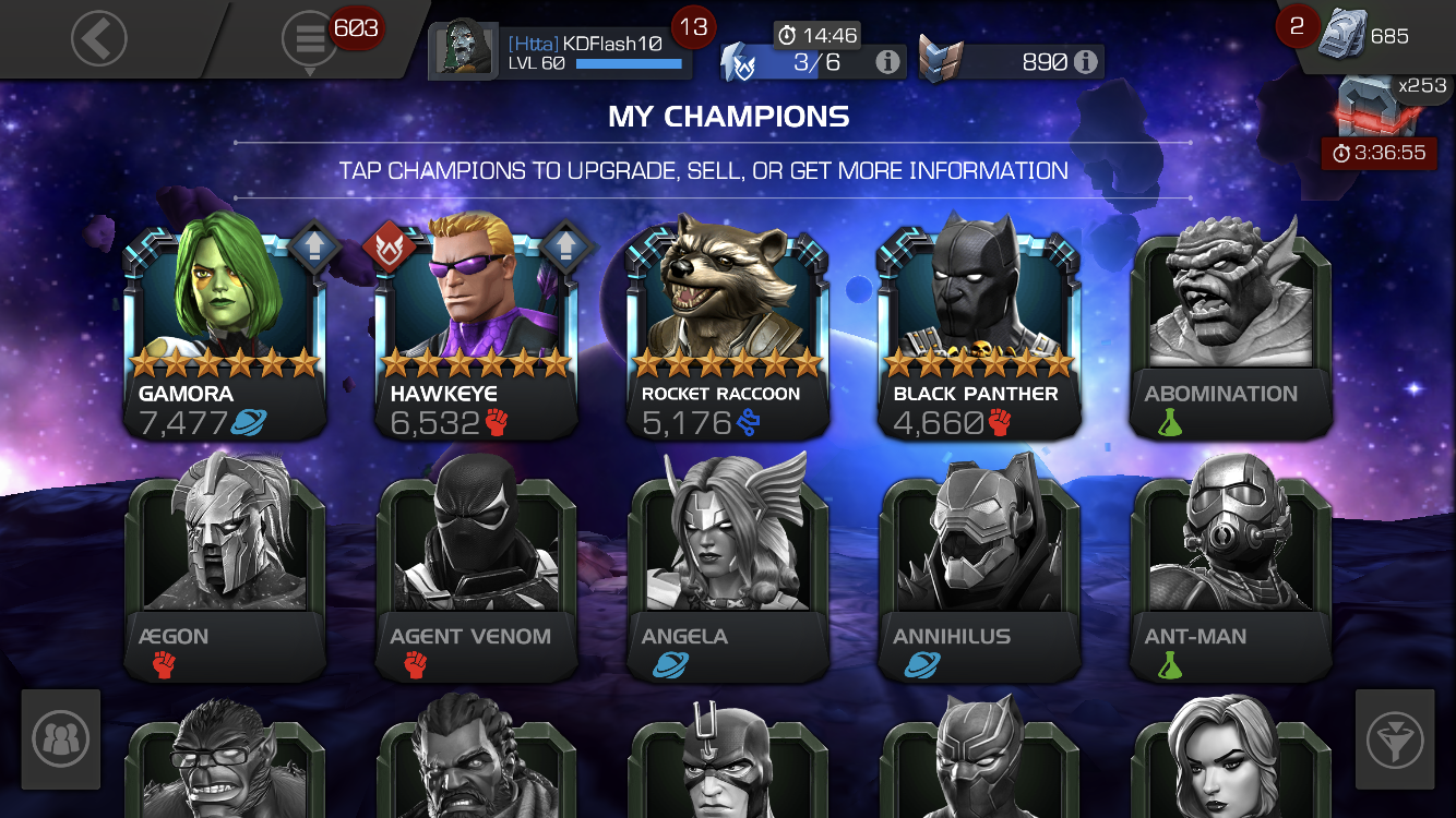 My Current 6 Champions From First To Latest Page 5 Marvel Contest Of Champions Last updated nov 3, 2015 (warsong nerf). contest of champions forum marvel contest of champions