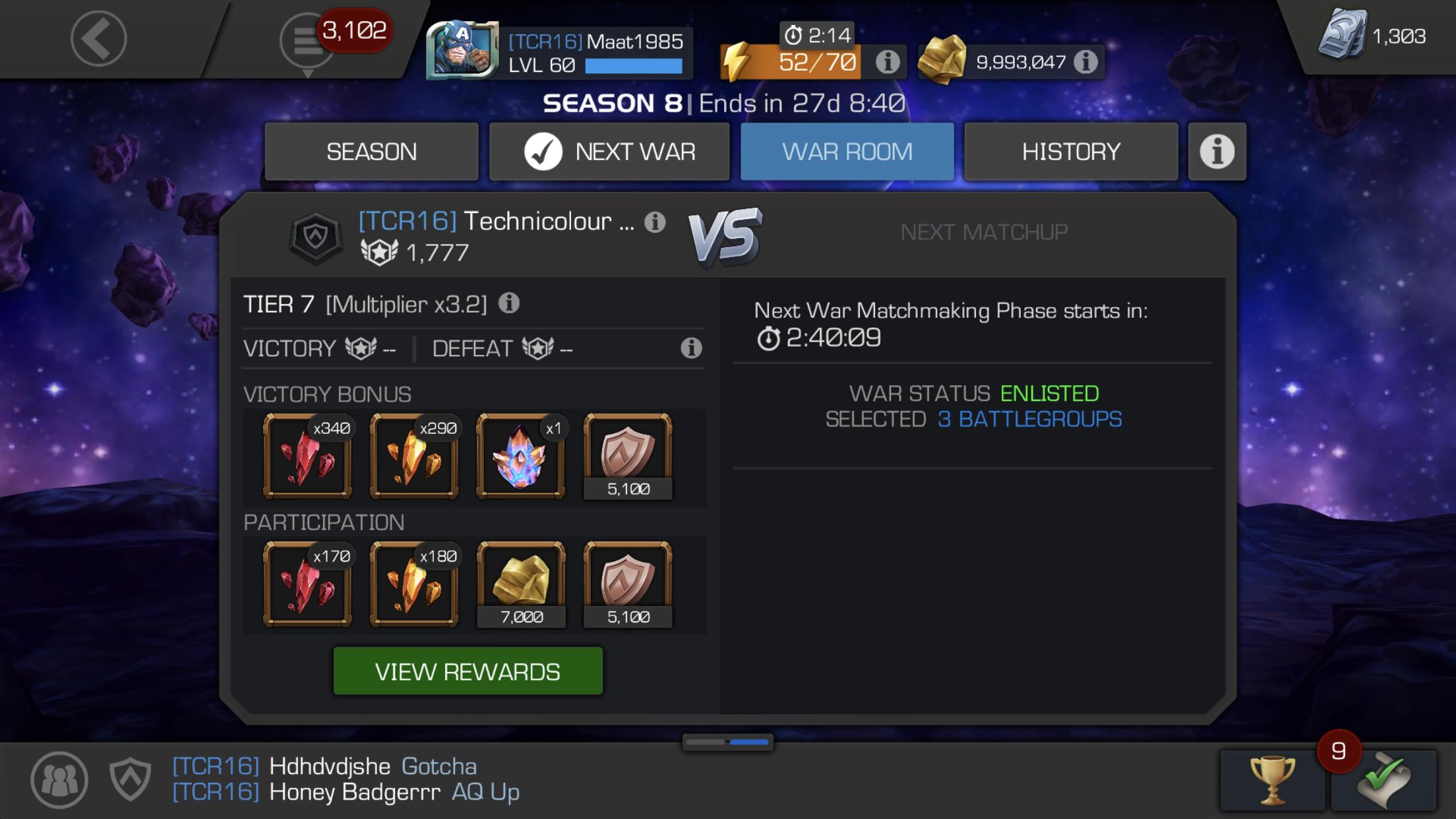 9,7 Matchmaking