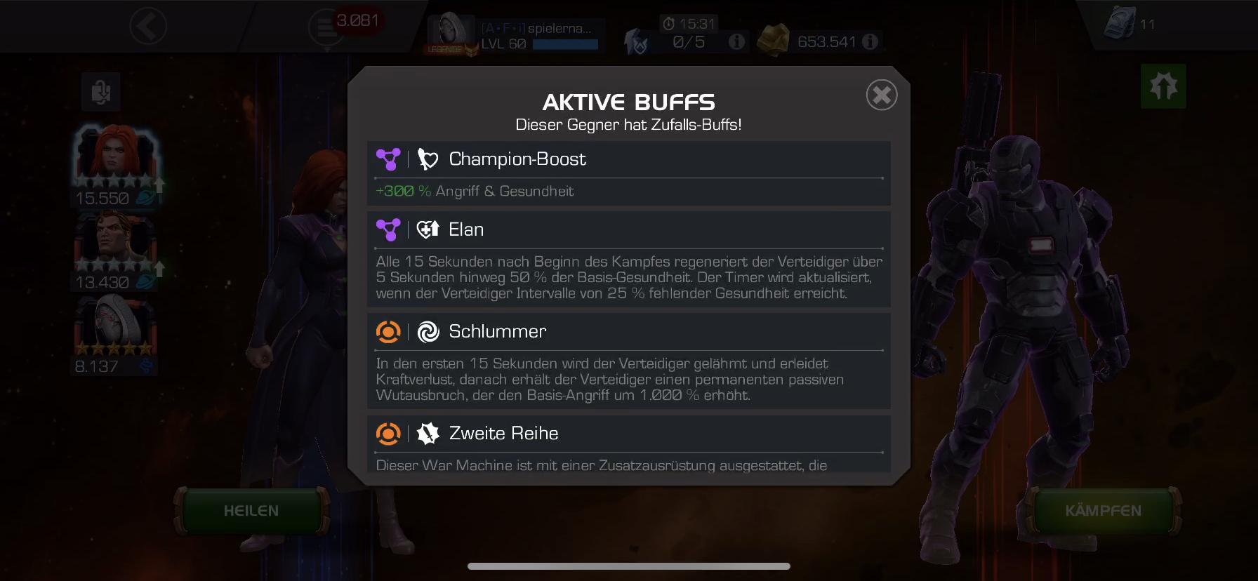 War Machine AQ bug — Marvel Contest of Champions