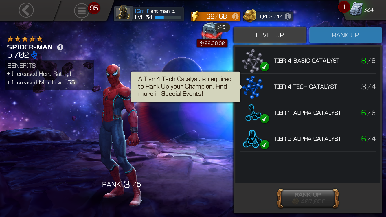 How do I get t4 tech fast? — Marvel Contest of Champions