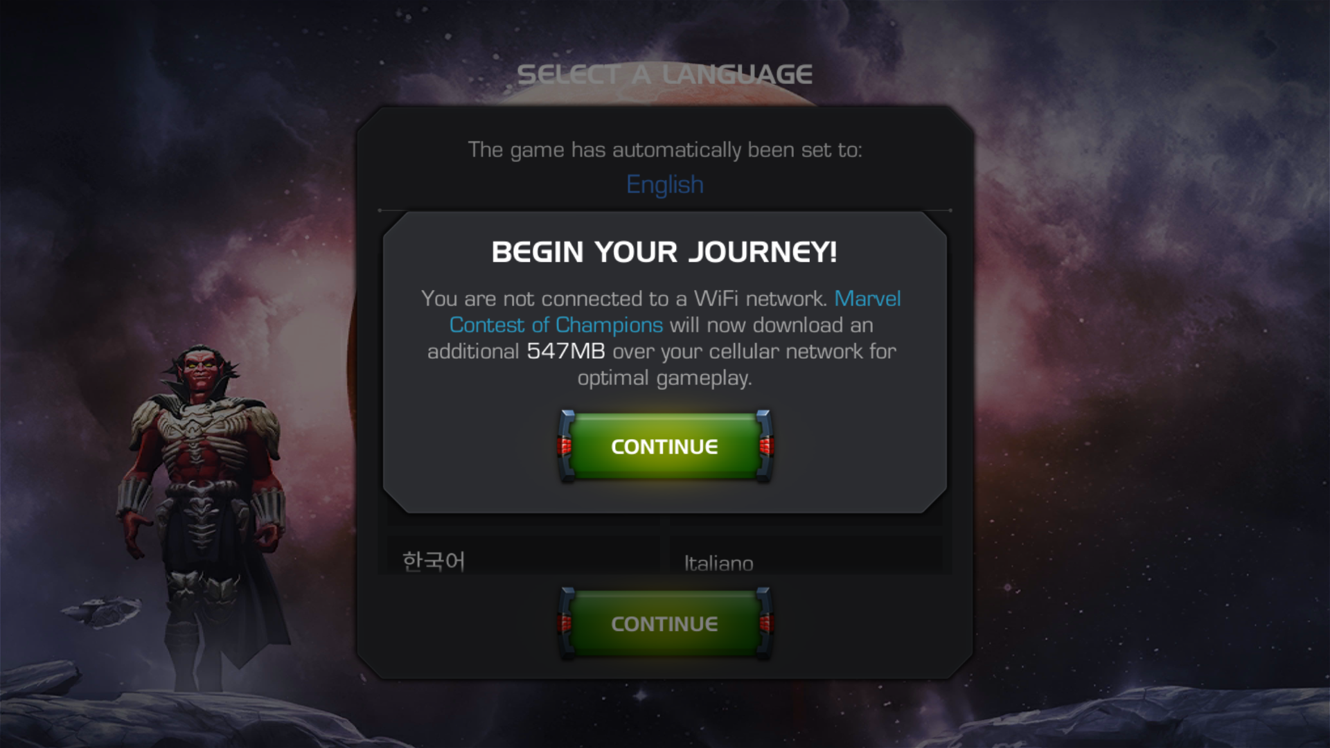 Loading Screen Download Popup Marvel Contest Of Champions