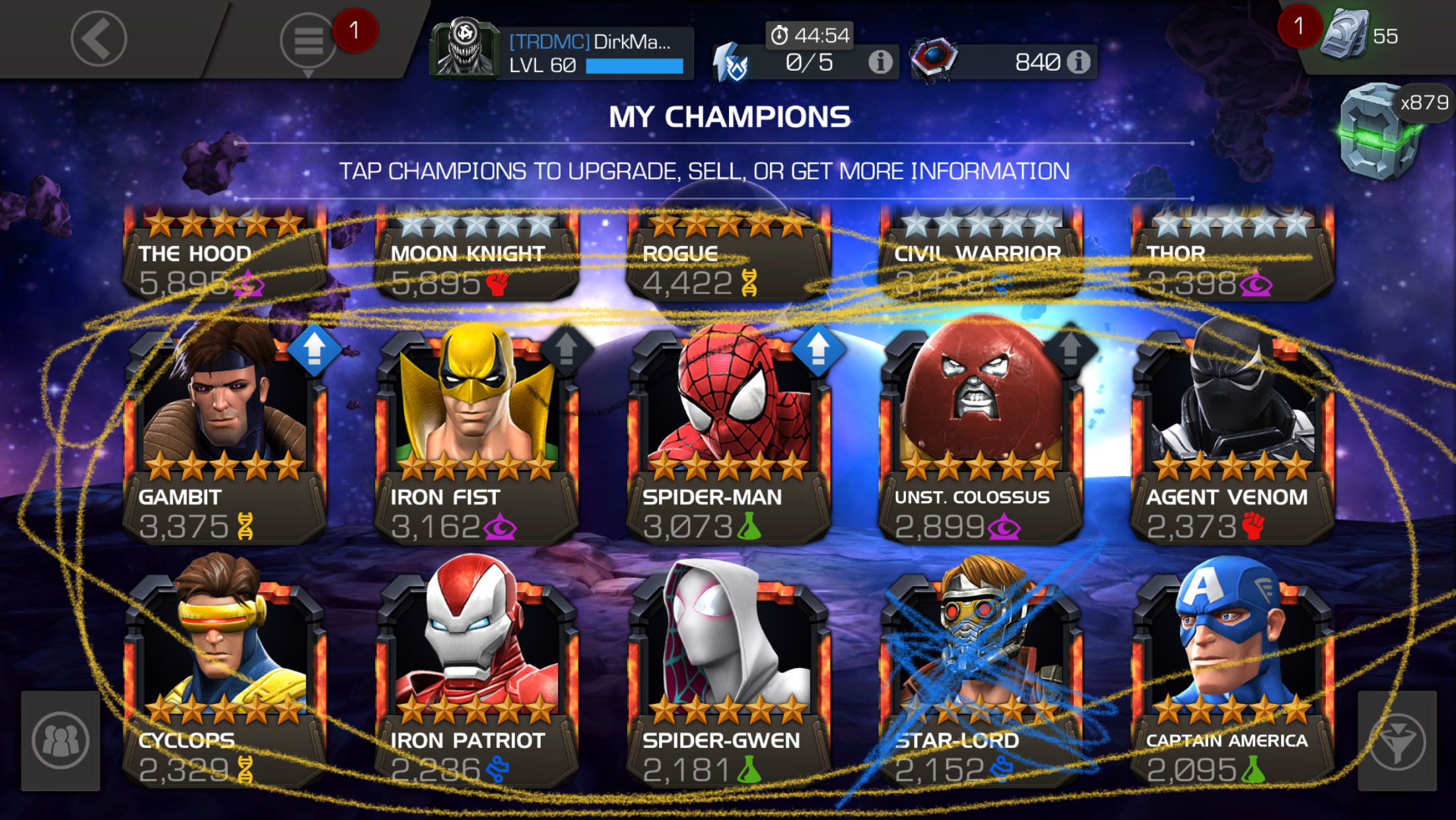Mcoc selling iso - gacompcomplegacompcomple
