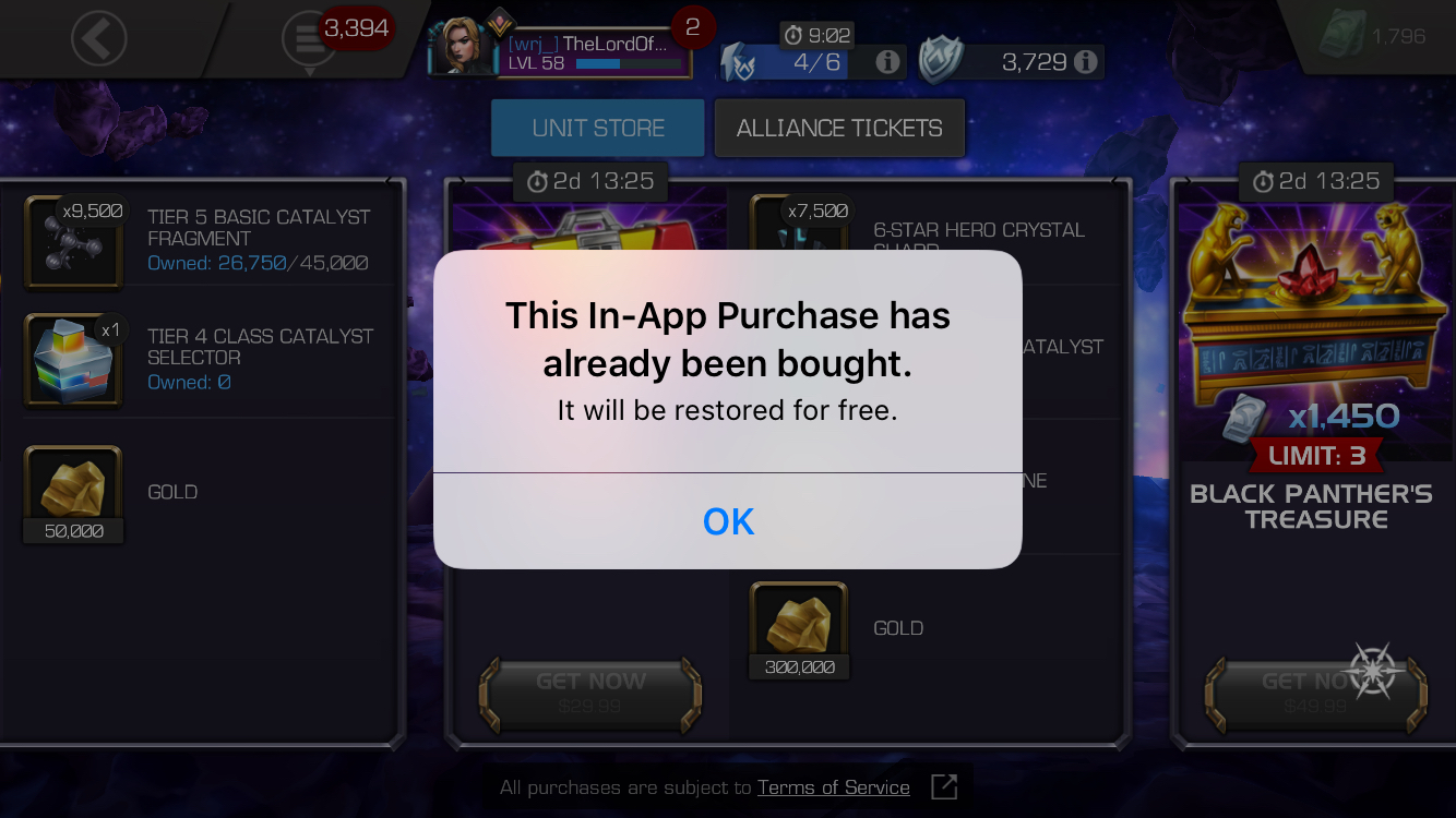 Stuck On This In App Purchase Has Already Been Bought Iphone 6 Marvel Contest Of Champions Igotmyrefund.com is a place where others are sharing their refund status. stuck on this in app purchase has