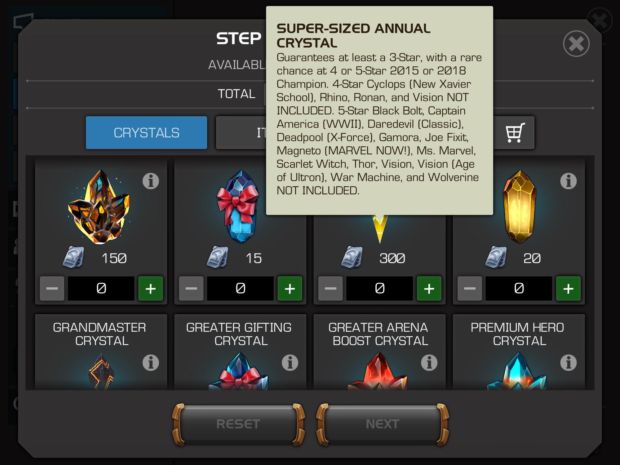 Grandmaster annual crystal - gotta few questions     — Marvel