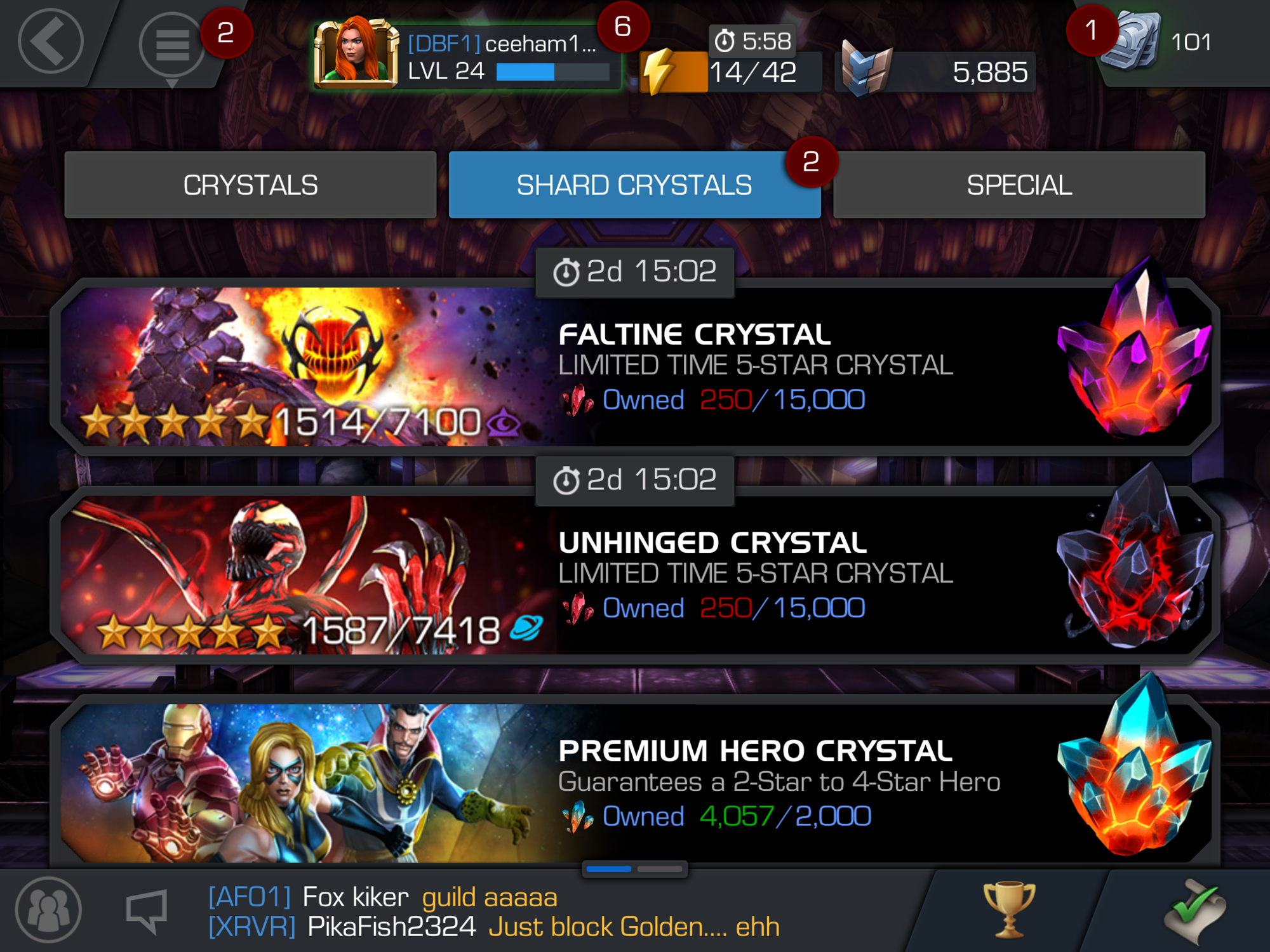 don t waste crystals shards marvel contest of champions