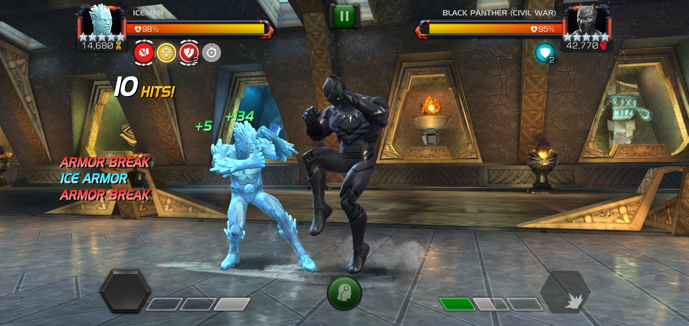 freezing in game — Marvel Contest of Champions