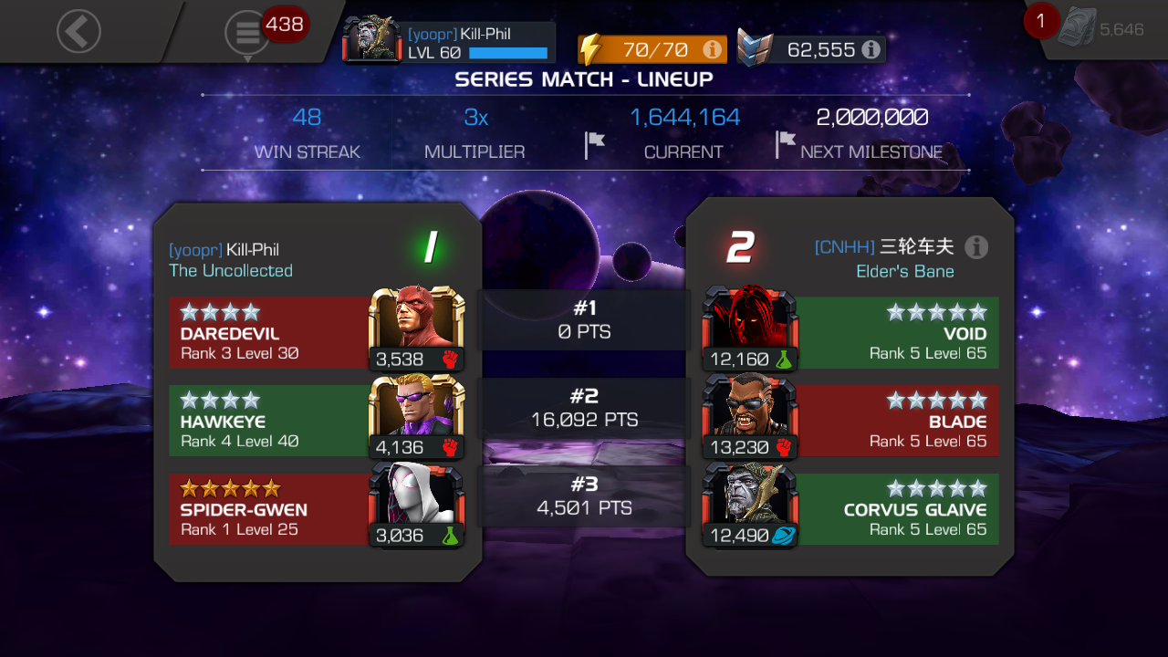 Catalyst arena infinite streak formula seems to have changed