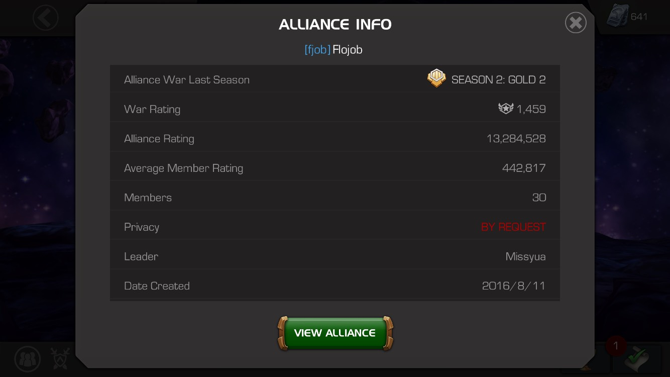 Matchmaking alliance