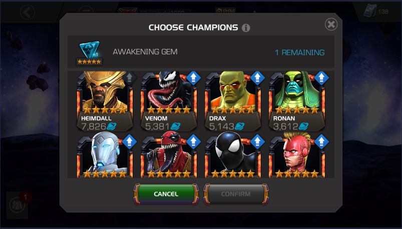 Who deserves it the most — Marvel Contest of Champions