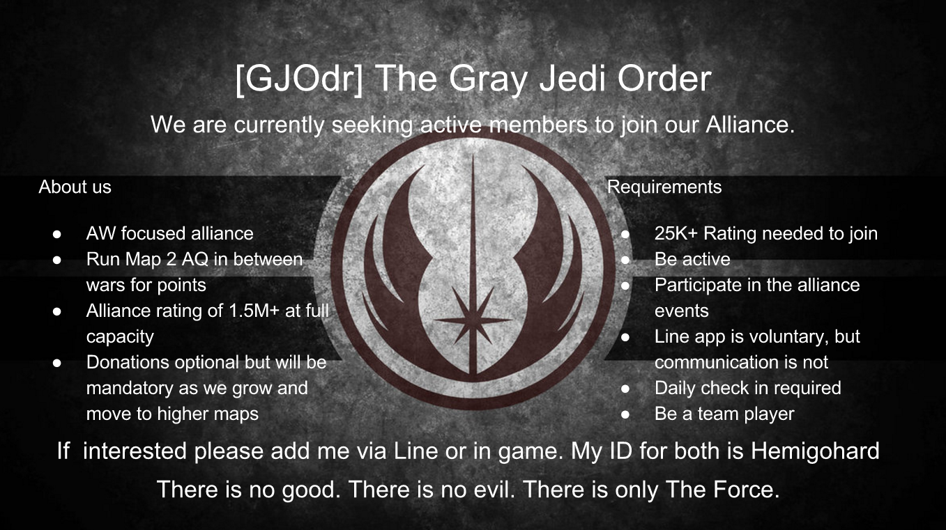 Join The Gray Jedi Order Today Marvel Contest Of Champions