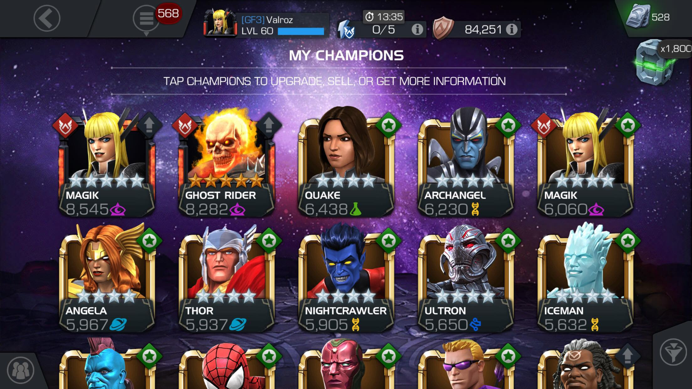 Who do you think should be my top 3 attack champs for AQ and AW