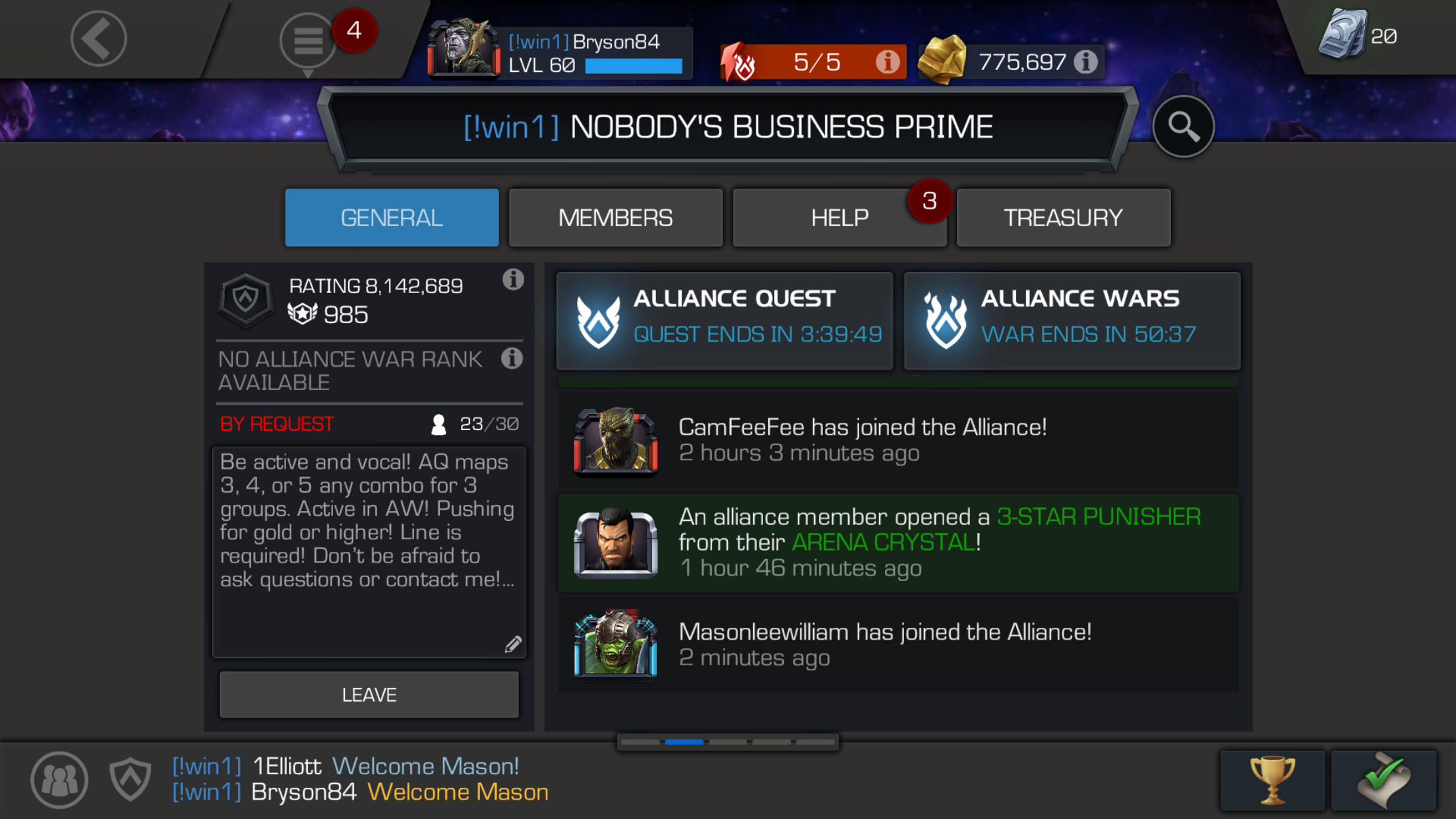 Looking for members! Flexible with AQ maps and active in AW — Marvel