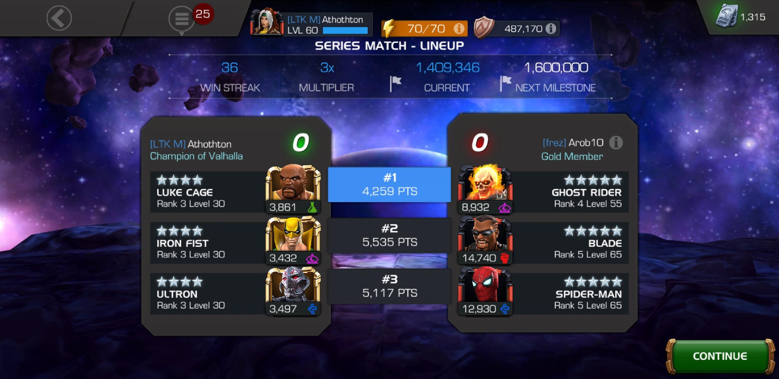Arena matchmaking