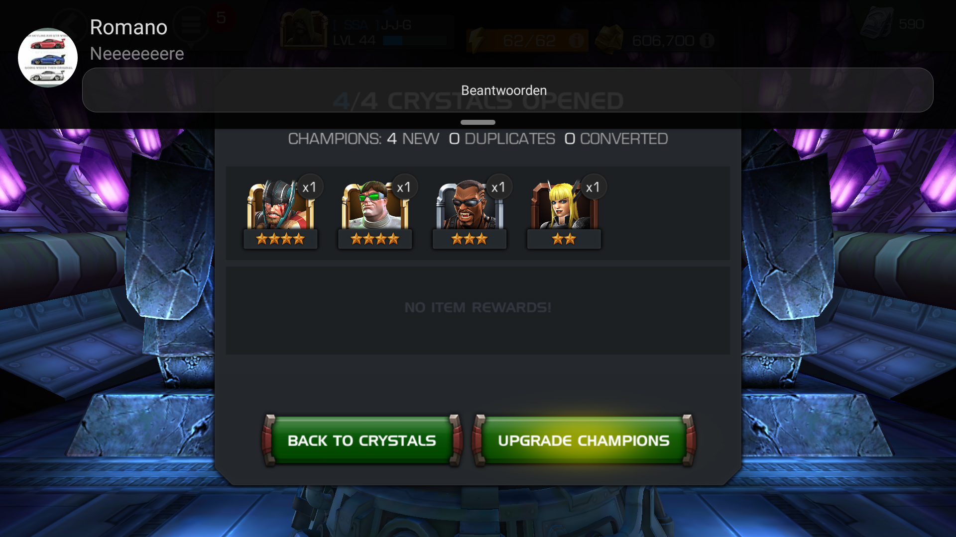 Valorous crystals — Marvel Contest of Champions