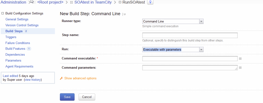 TeamCity: How to run SOAtest — Parasoft Forum